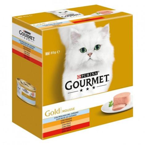 Gourmet Gold Pack Mousse Vaca, peixe, fígado e peru
