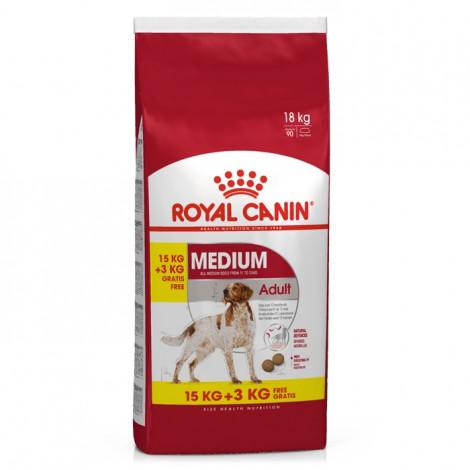 Royal Canin Medium Cão Adulto 15 kg + OFERTA 3 kg