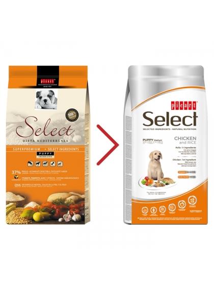Picart Select Cão Puppy Medium - Frango e arroz