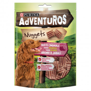 Adventuros Nuggets Snacks para cão de Javali