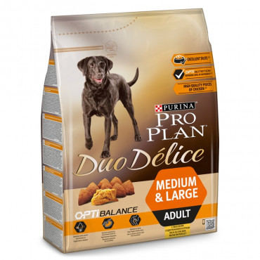 Pro Plan Duo Délice Cão Medium & Large Adulto - Frango