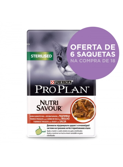 Pro Plan Nutrisavour™ - Adult Sterilised Carne de Vaca
