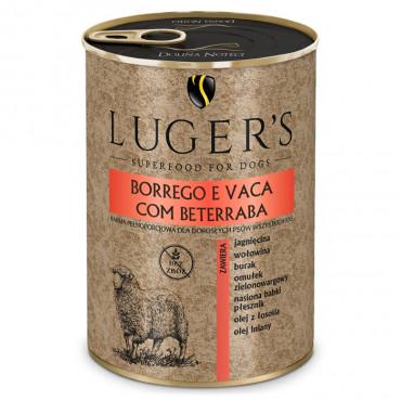 Luger's Cão Adulto Borrego e vaca com beterraba