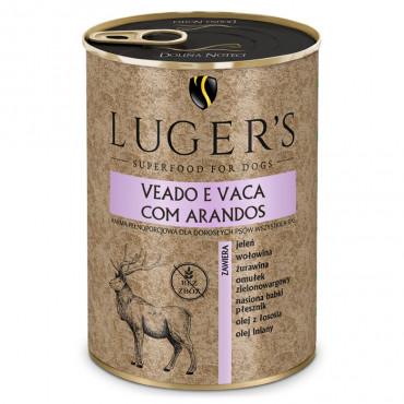 Luger's Cão Adulto Veado e vaca com arando