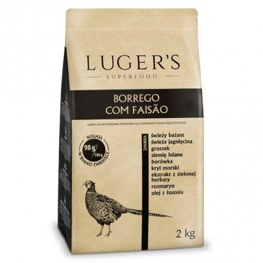 Luger's Semi-húmida Cão - Borrego com faisão