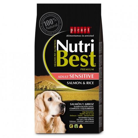 Picart Nutribest Sensitive Cão Adulto - Salmão e arroz
