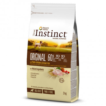 True Instinct Original Cão Adulto Mini - Frango com arroz integral