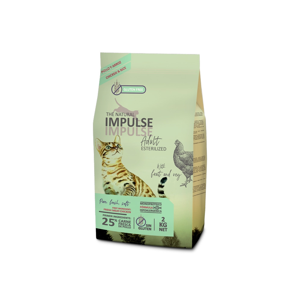 The Natural Impulse Gato Adulto Esterilizado - Frango