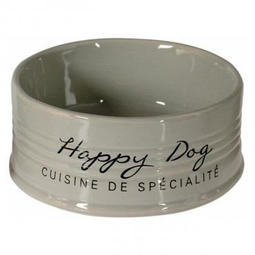 "Duvo + Taça em cerâmica cinza ""Happy Dog"""