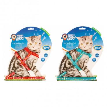 Duvo+ Peitoral e trela para gatinhos