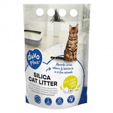 Duvo+ Areia sílica de limão para gato