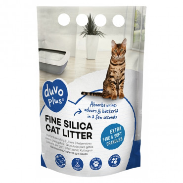Duvo+ Areia sílica extra fina para gato