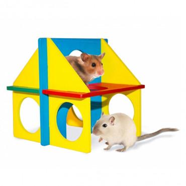 Duvo+ Globos de coco com 2 escadas suspensas para roedores