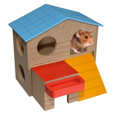 Duvo+ Casa Villa de madeira para roedores
