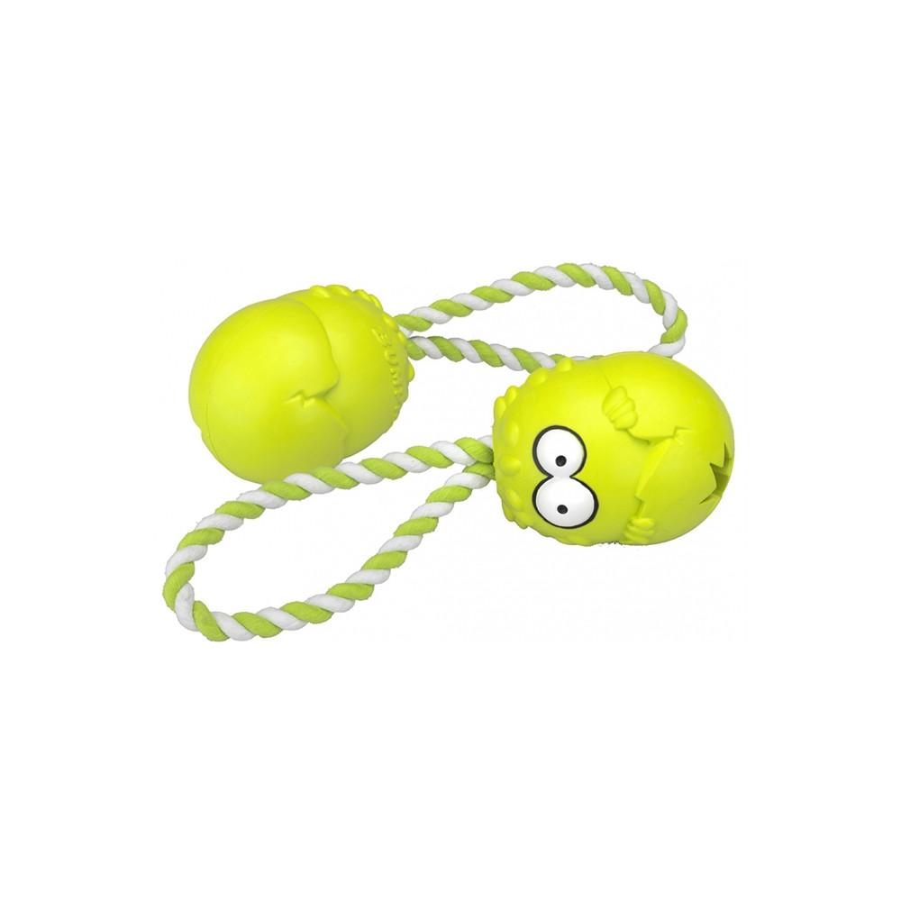 Duvo+ Bumpies com corda para cão - Maçã