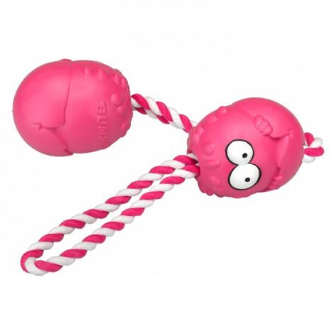 Coockoo Bumpies com corda para cão - Morango