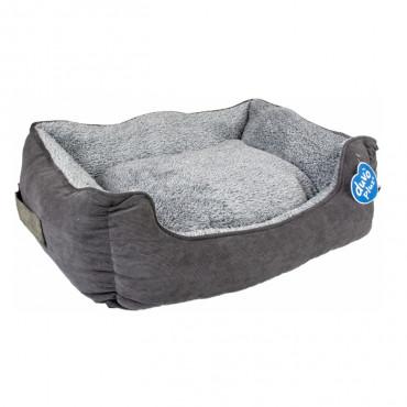 Duvo+ Cama em veludo retangular para cães