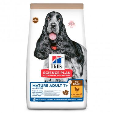 Hill's No Grain Cão Medium Adulto Mature - Frango