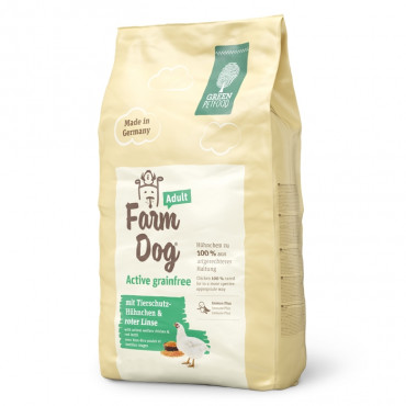Green PetFood Farm Dog Active Grain free Cão Adulto - Frango e lentilha vermelha