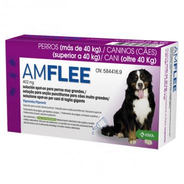 Pipetas para cão +40 kg Amflee