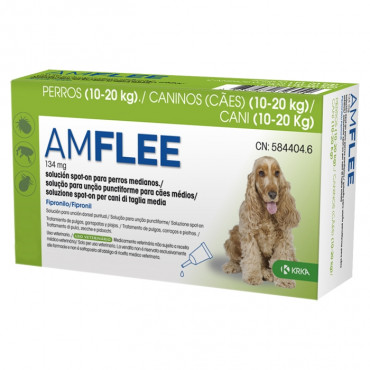 Pipetas para cão 10-20 kg Amflee
