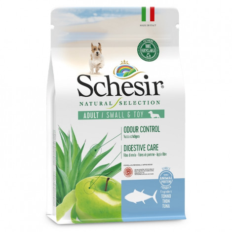 Schesir Natural Selection Cão Adulto Small & Toy - Atum