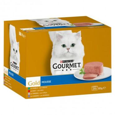 Gourmet Gold Mousse - Seleção de sabores