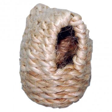 Ninho oval em sisal para exóticos