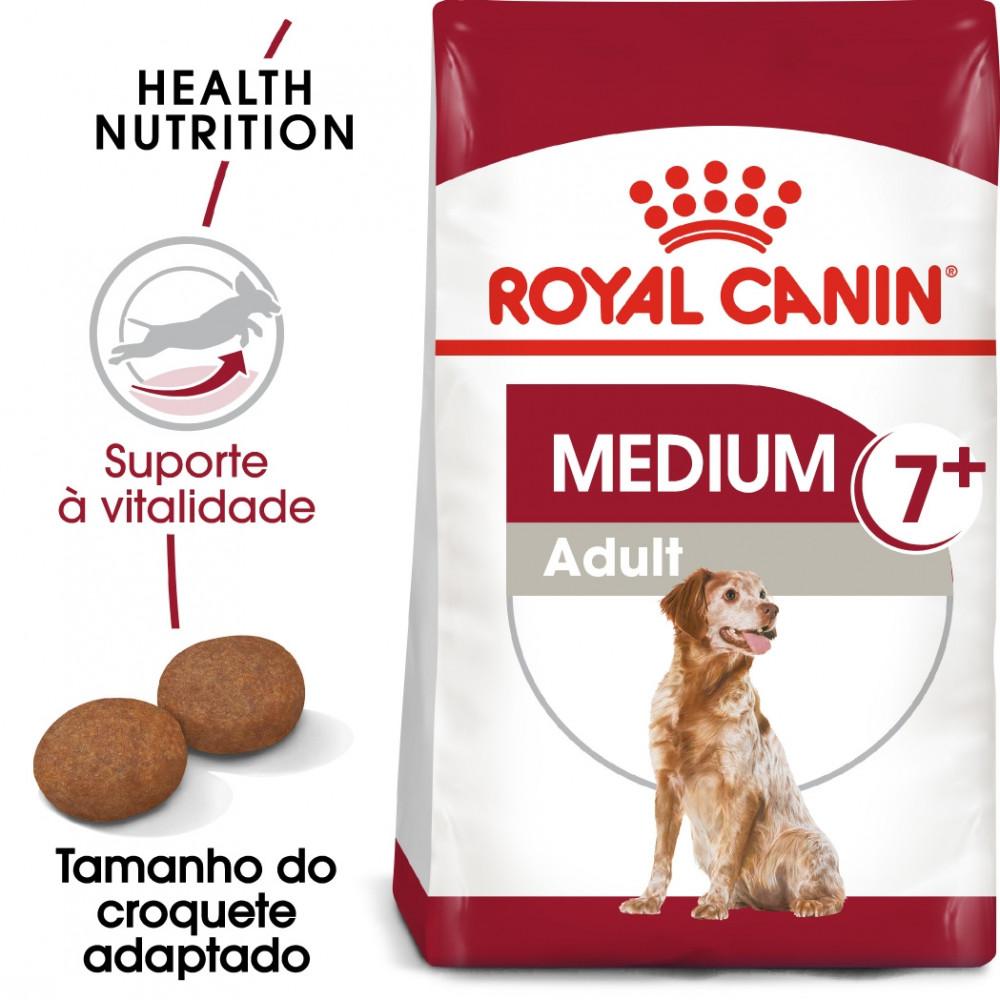 Royal Canin Medium Cão adulto 7+