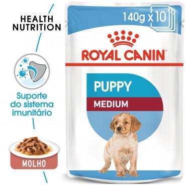 Royal Canin Cão Puppy Medium - Em molho