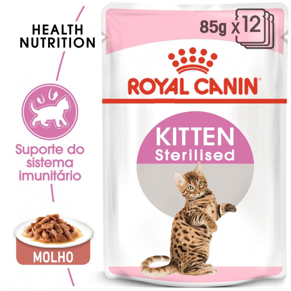 Royal Canin Gato Kitten Sterilised - Em molho