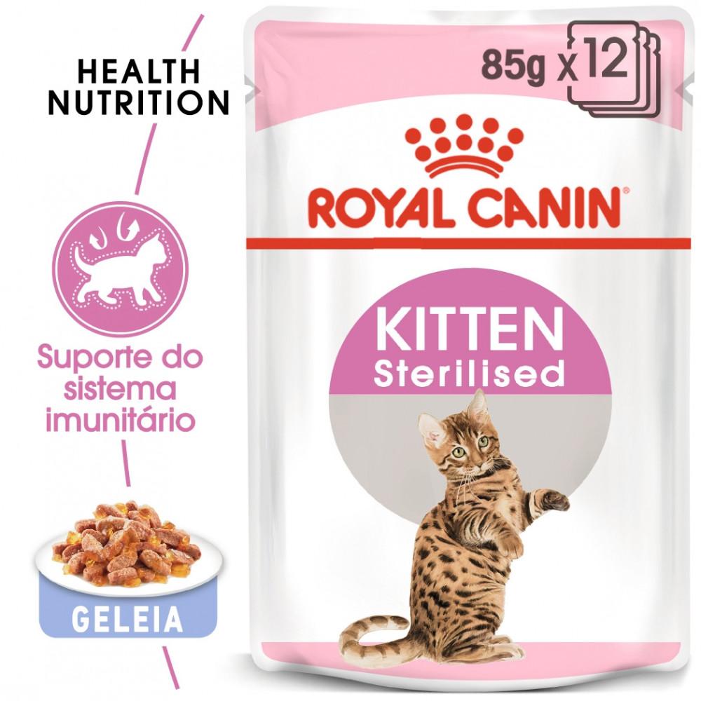 Royal Canin Gato Kitten Sterilised - Em geleia