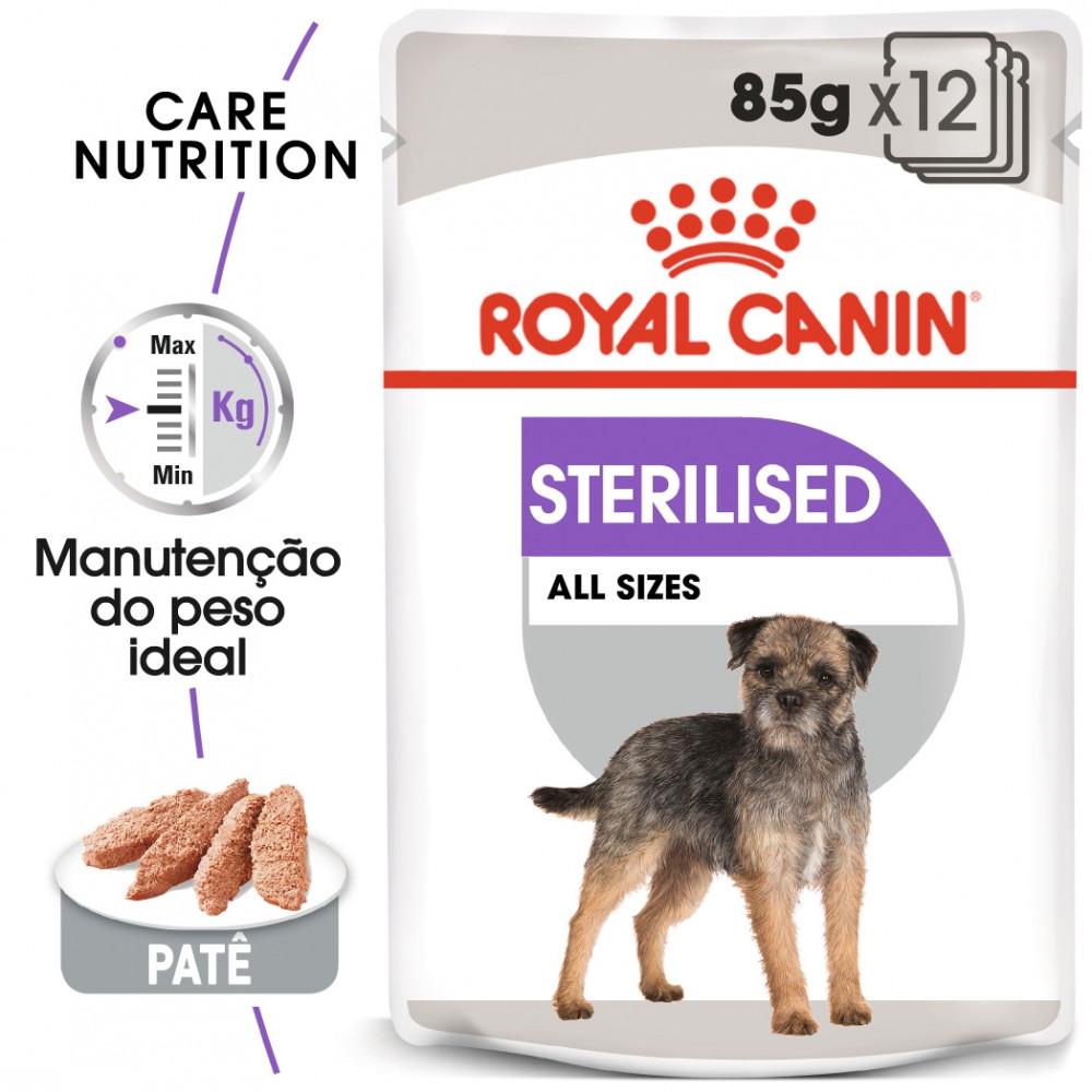 Royal Canin Sterilised Cão adulto - Em patê