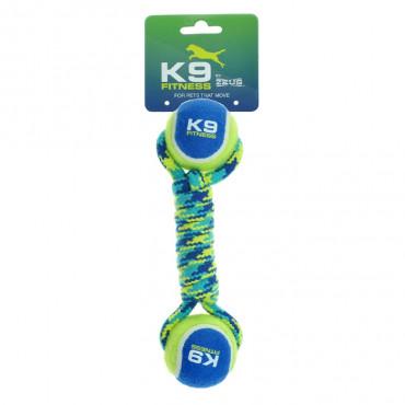 K9 Halter em corda com duas bolas