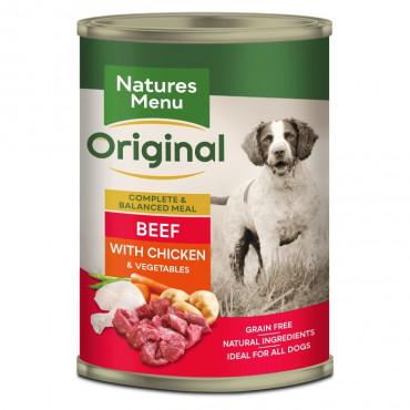 Natures menu - Carne de vaca com frango e vegetais
