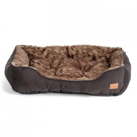Agui Cama Furry para cão