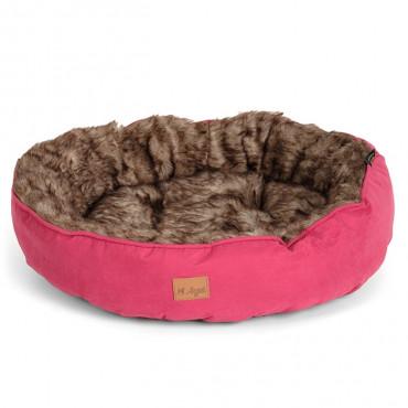 Agui Cama Furry Donut para cão