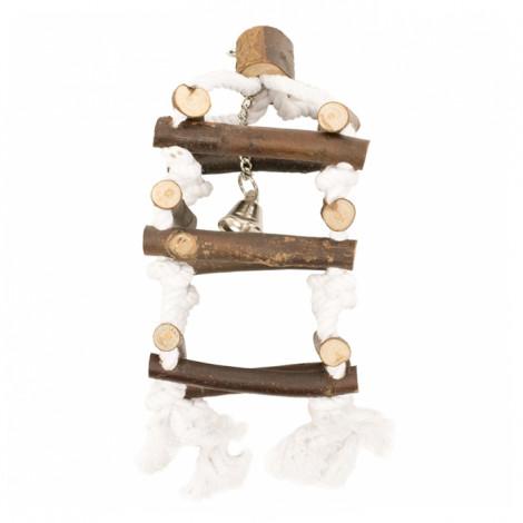 Duvo+ Escadas de madeira com cordas para aves
