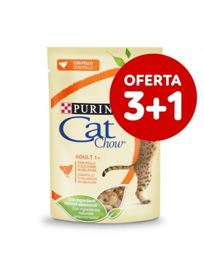 Cat Chow Gato Adulto Frango e curgete em molho