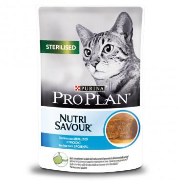 Pro Plan Nutrisavour Terrine Sterilised Gato - Bacalhau