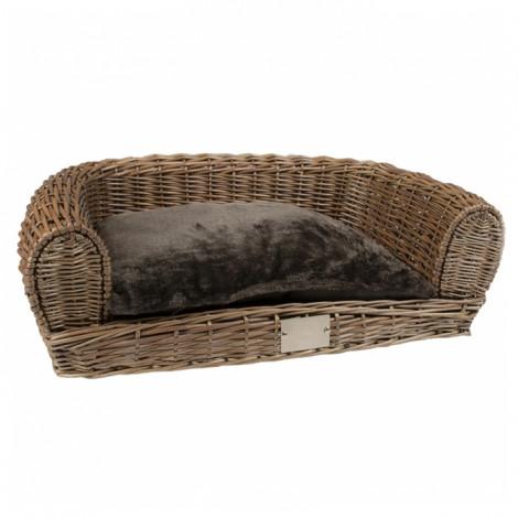 Duvo+ Sofá em verga com almofada para cães