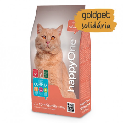 Goldpet Solidária - happyOne Gato Adulto Salmão