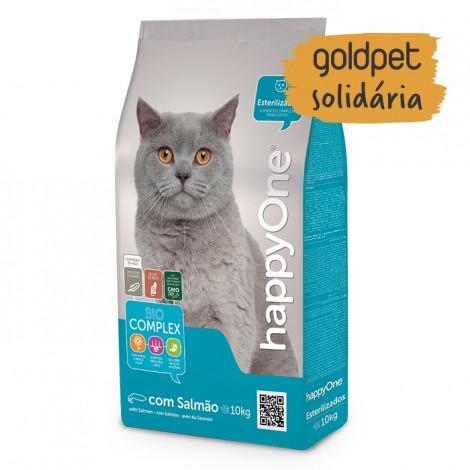 Goldpet Solidária - happyOne Gato Esterilizado Salmão