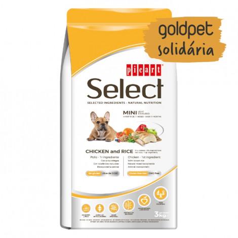 Goldpet Solidária - Picart Select Cão Mini Adulto Light - Frango e arroz