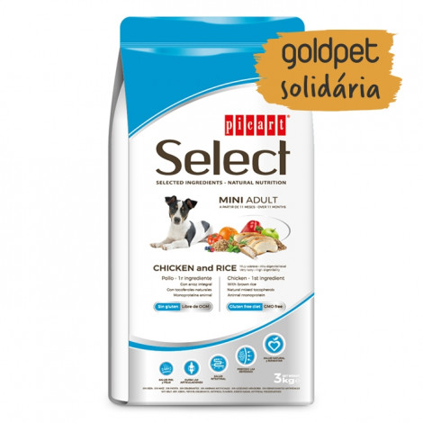 Goldpet Solidária - Picart Select Cão Mini Adulto - Frango e arroz