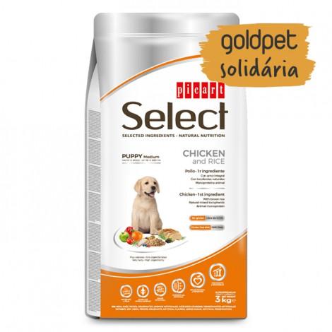 Goldpet Solidária - Picart Select Cão Puppy Medium - Frango e arroz