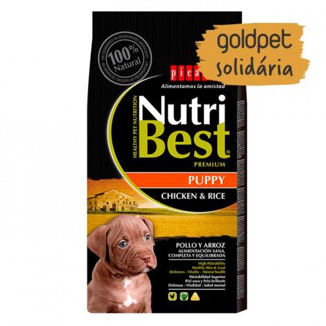 Goldpet Solidária - Picart Nutribest Premium Cão Puppy - Frango e arroz