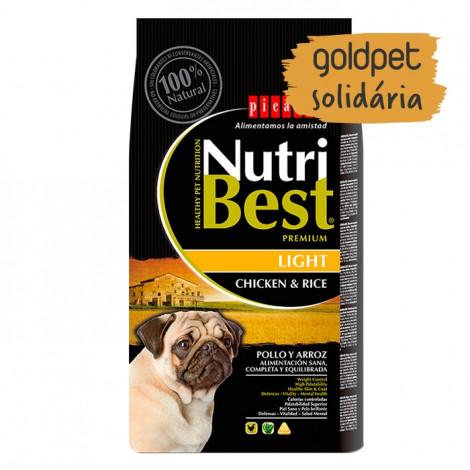 Goldpet Solidária - Picart Nutribest Light Cão Adulto - Frango e arroz