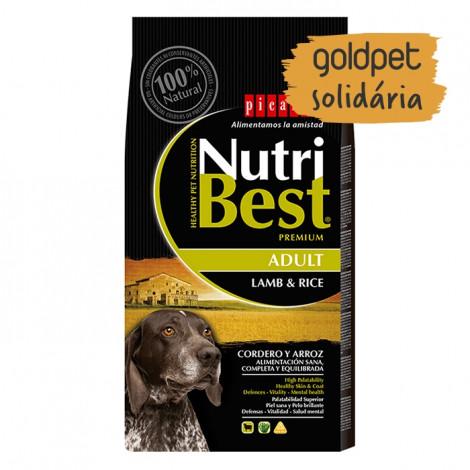 Goldpet Solidária - Picart Nutribest Cão Adulto - Cordeiro e arroz
