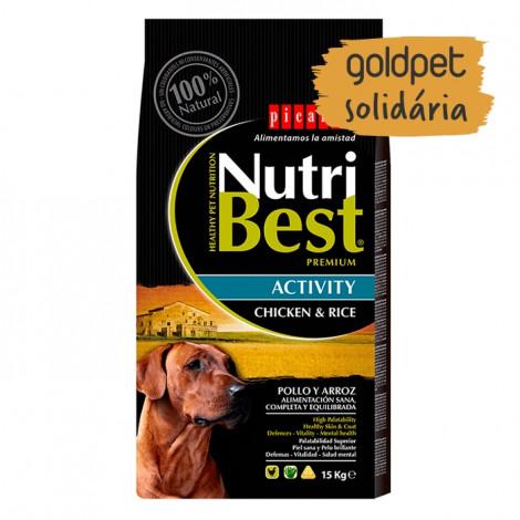 Goldpet Solidária - Picart Nutribest Activity Cão Adulto - Frango e arroz